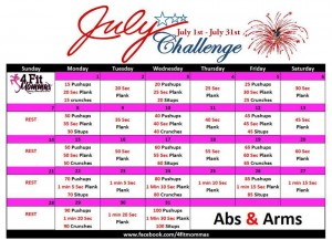 July Abs and Arms Challenge