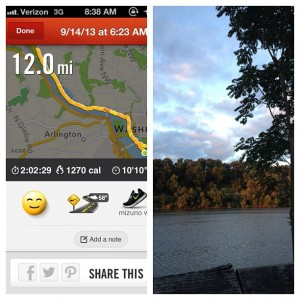 Richmond Marathon Training Recap 9/9-9/15