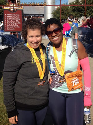 Rose and I post race!