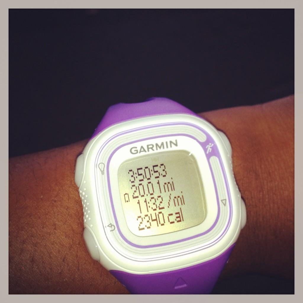 20 miles. Whew!