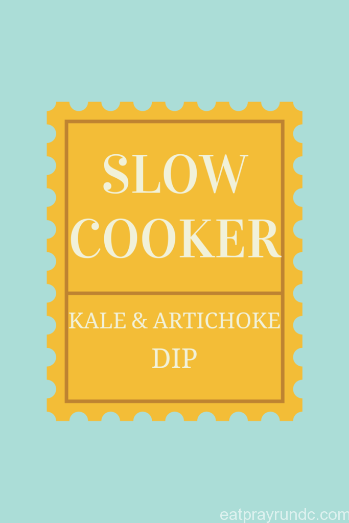slow cooker kale and artichoke dip