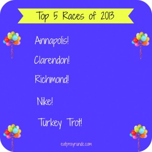 Top Five Races of 2013