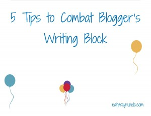 5 Tips to Combat Blogging Writer's Block