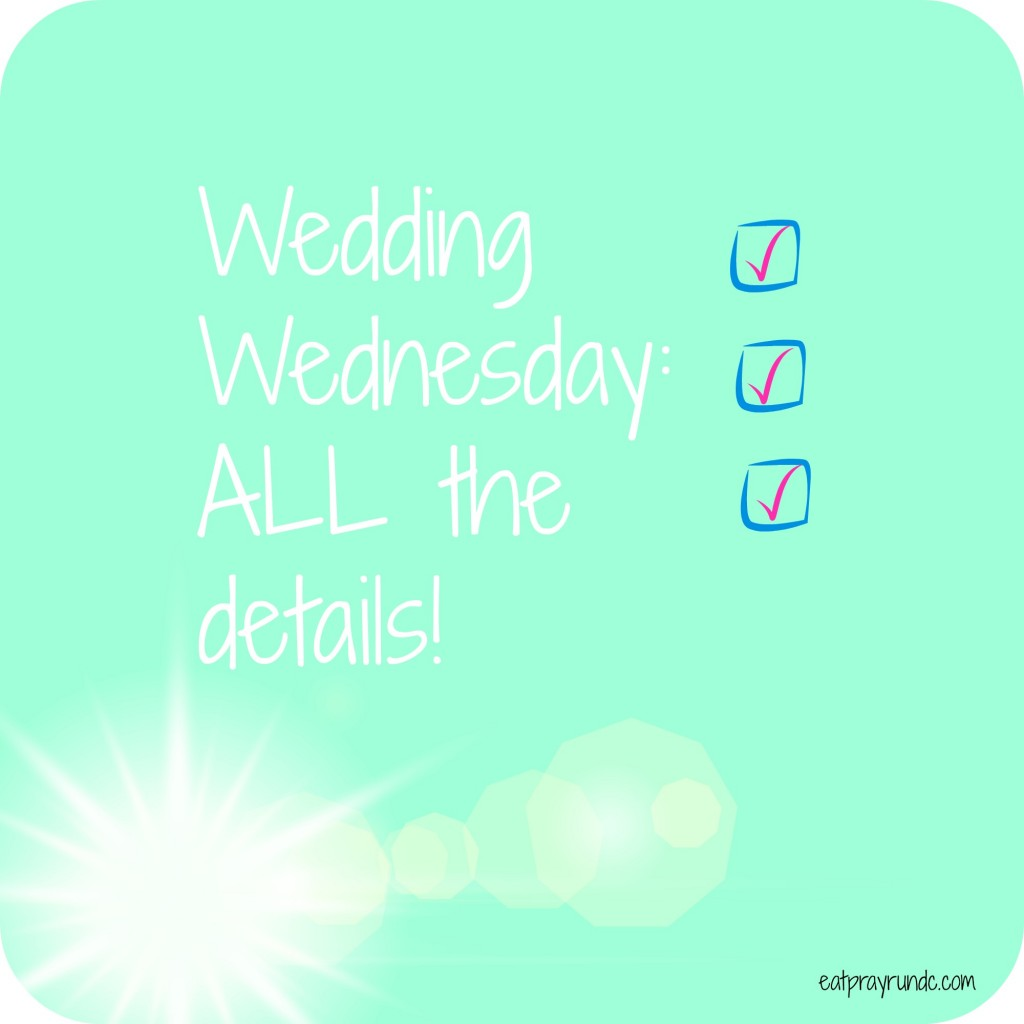 wedding wednesday details