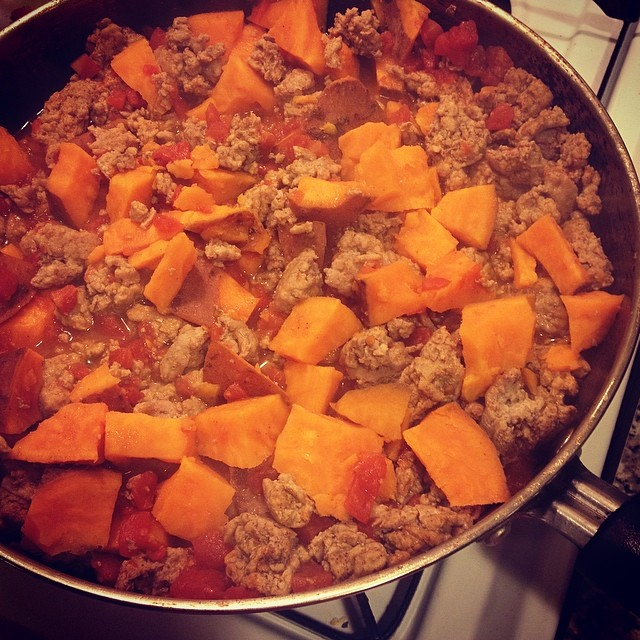 "Turkey and sweet potato ""chili"""