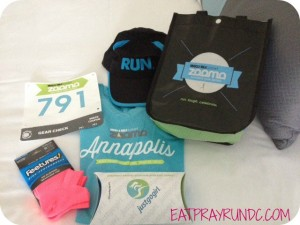 Zooma Annapolis swag bag
