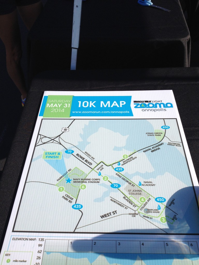The 10k course map