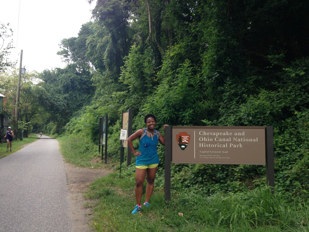at the start of my favorite trail!