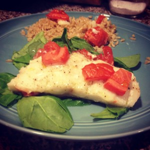Roasted Cod with Tomatoes Recipe