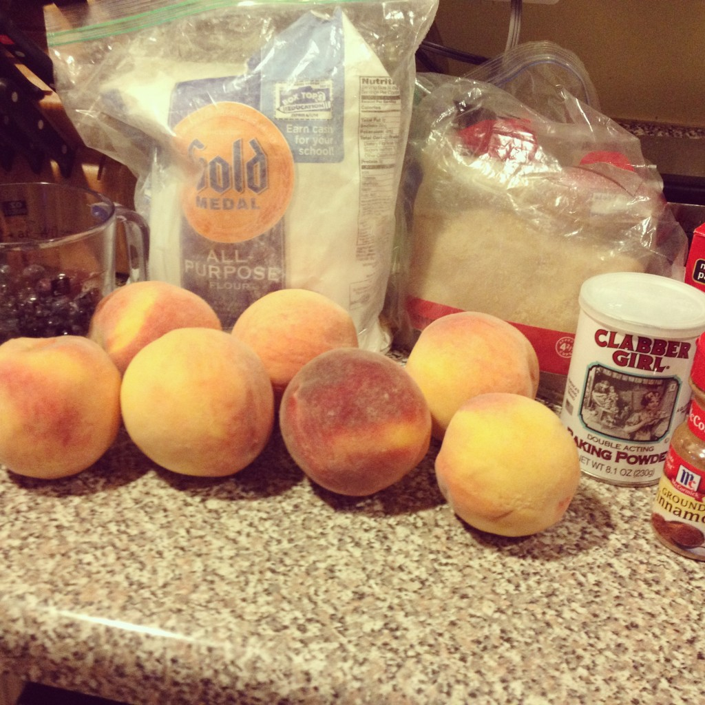 peach blueberry cobbler ingredients