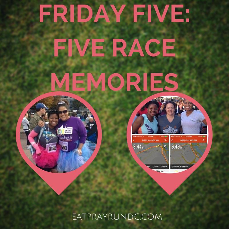 FRIDAY FIVE-FIVE RACE MEMORIES