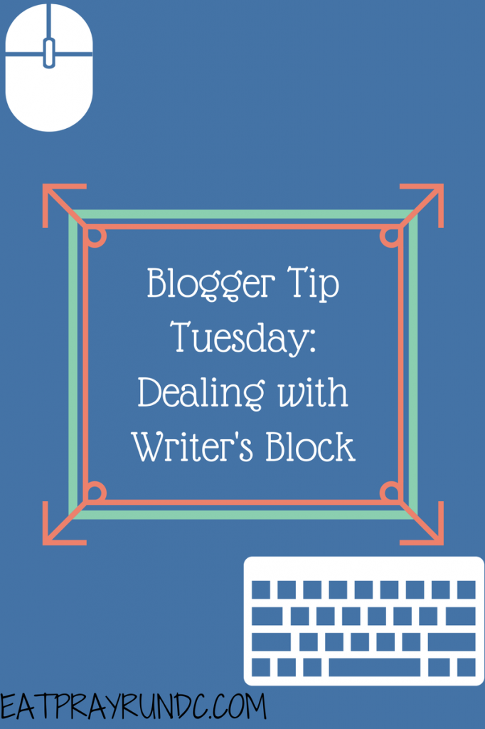 dealing with writers block