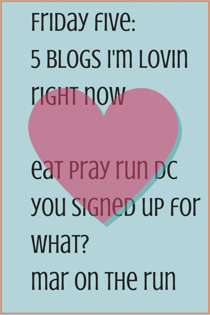 Friday five-5 blogs i'm lovin right