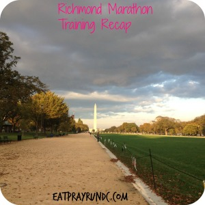 Richmond Marathon Training Recap