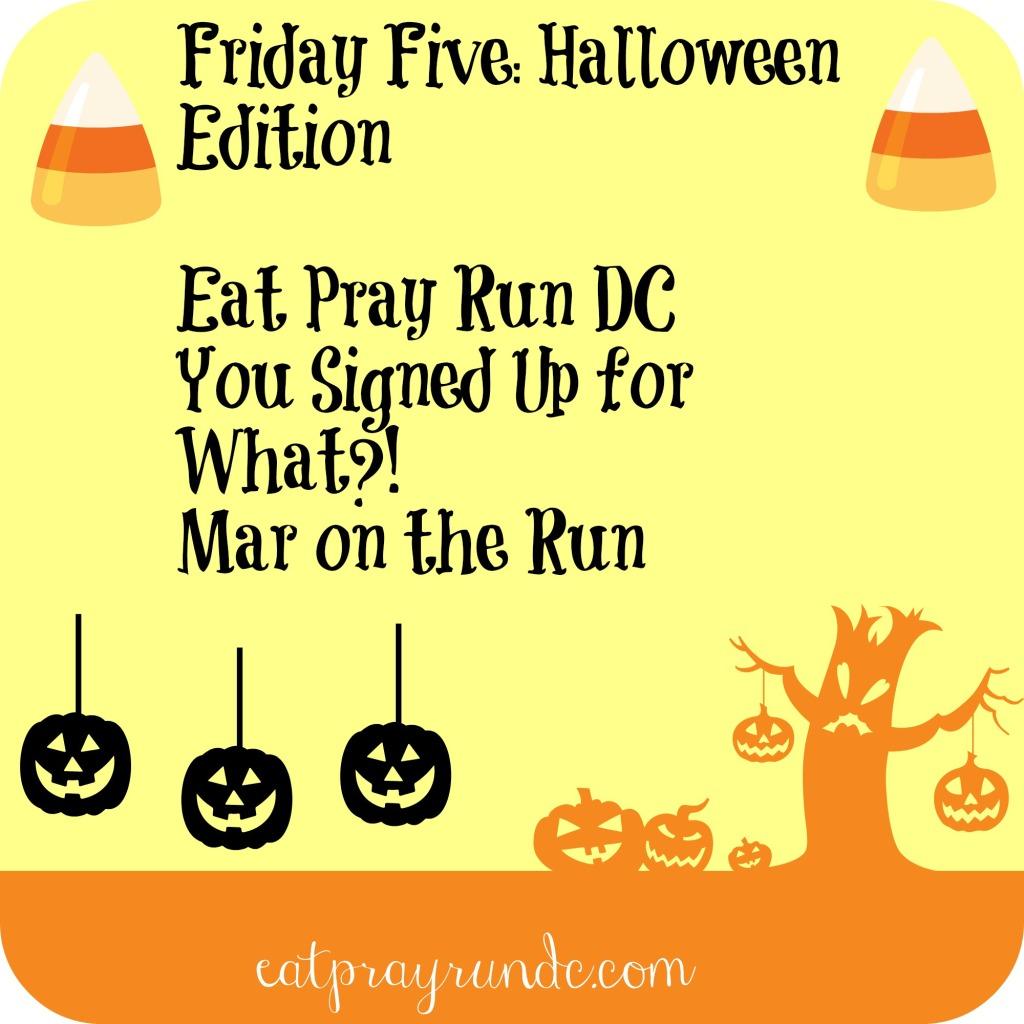 Friday Five: Halloween Edition