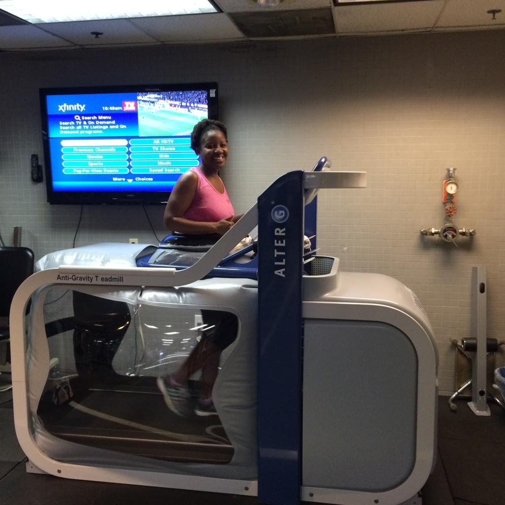 AlterG treadmill experience