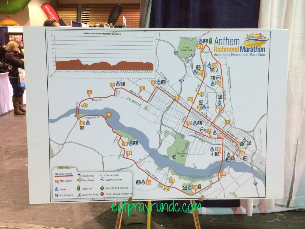 richmond marathon race course map