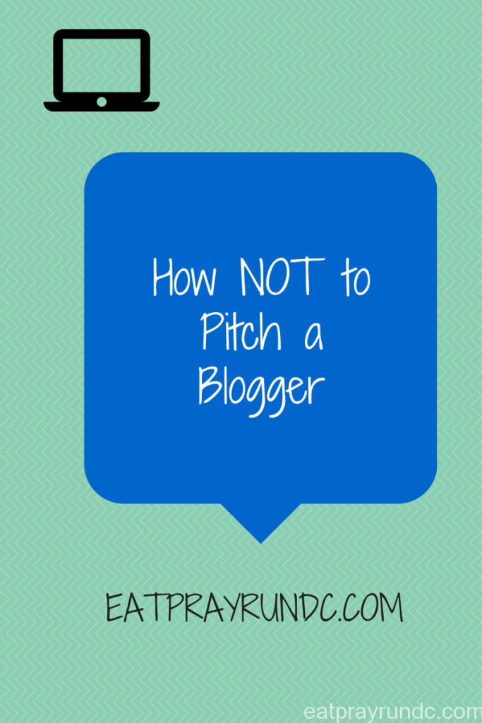 How NOT to pitch a blogger