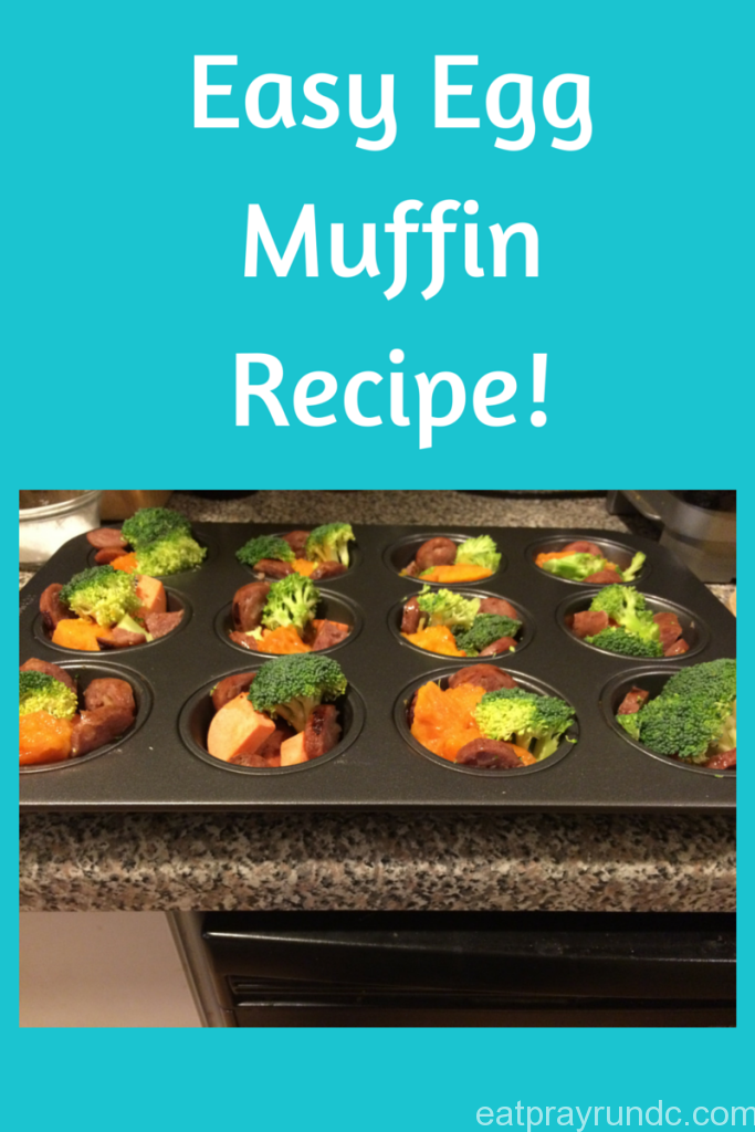 Easy Egg Muffin Recipe via Eat Pray Run DC