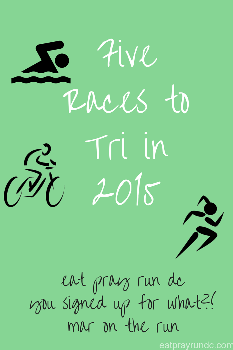 Five Races to Tri in 2015