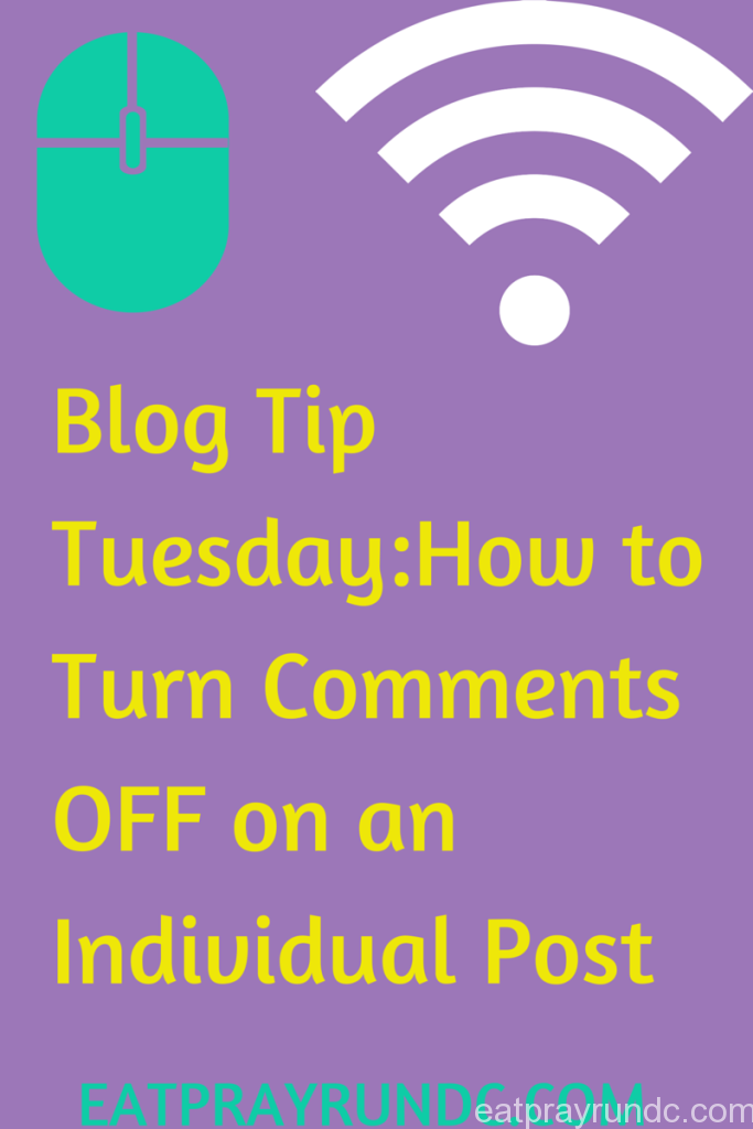 how to turn blog comments off an individual post
