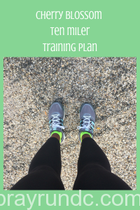 Cherry Blossom Ten Miler Training Plan