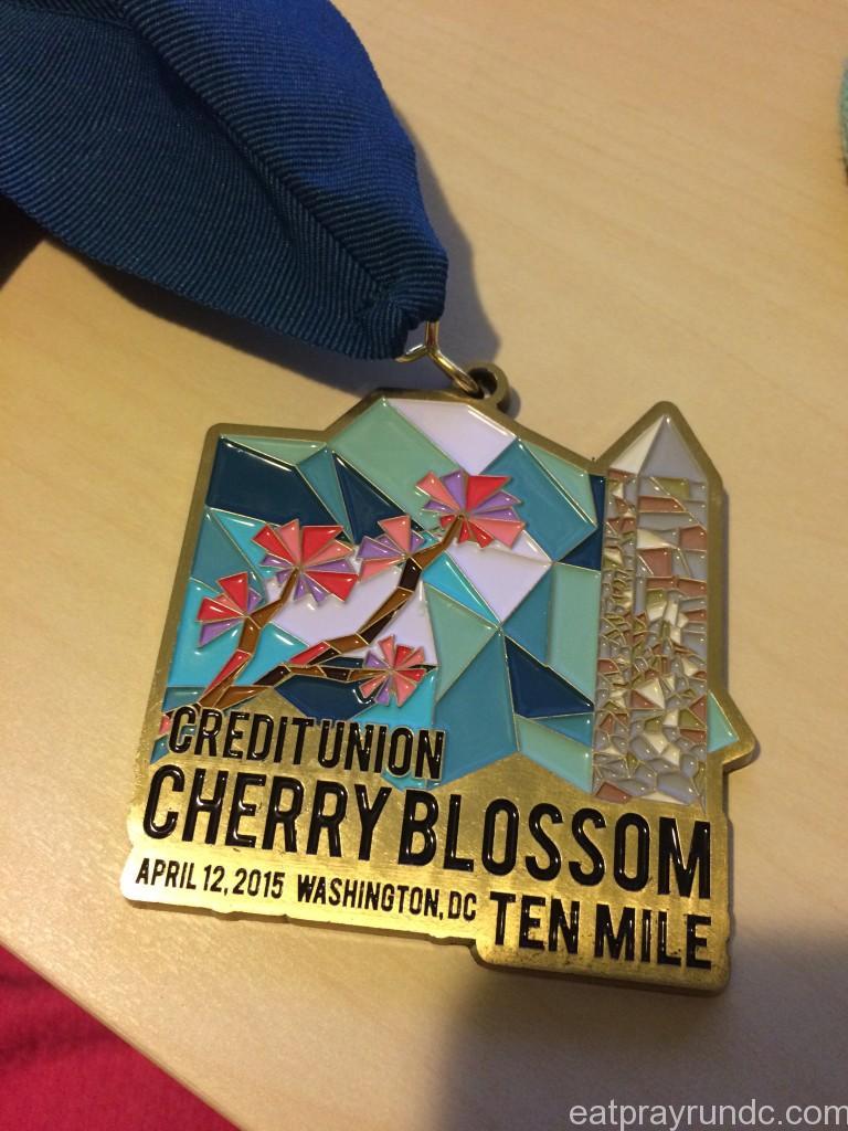 Cherry Blossom Ten Miler medal