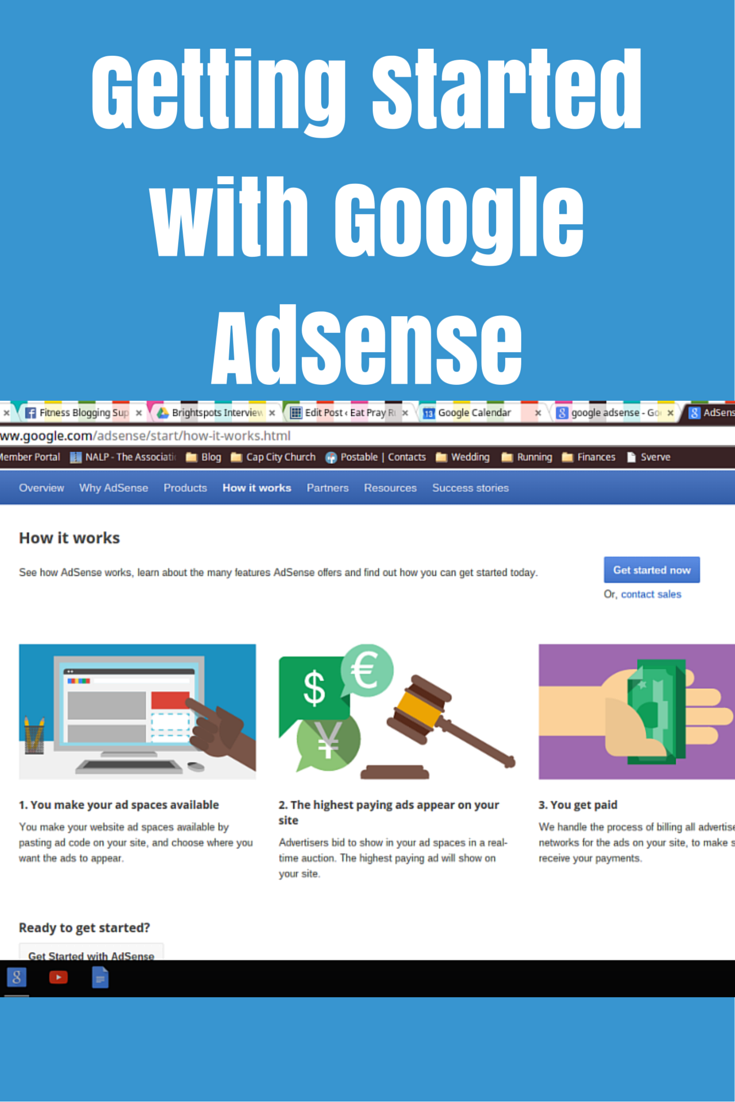 Getting Started with Google AdSense - Eat Pray Run DC
