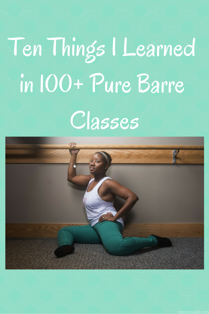 Ten Things I Learned in 100+ Pure Barre Classes