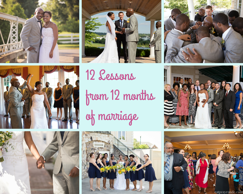 lessons learned from one year of marriage