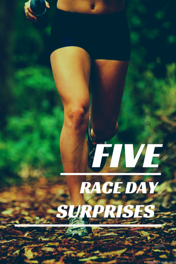 five race day surprises