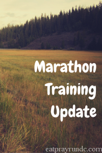August Marathon Training Update