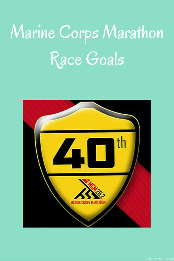 Marine Corps Marathon Race Goals