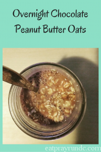 Overnight chocolate peanut butter oats