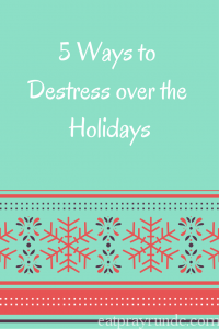 5 Ways to Destress Over the Holidays