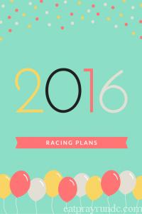 2016 Racing Plans