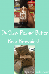 DuClaw Beer Brownies (w/Peanut Butter!)