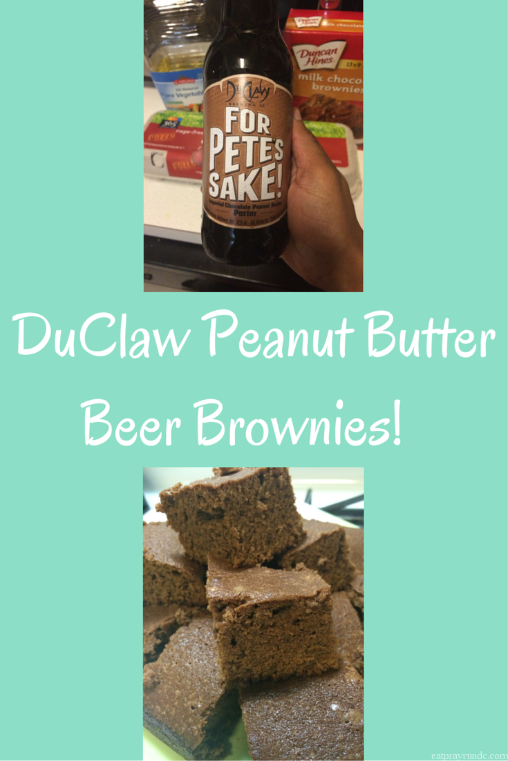 DuClaw Peanut Butter Beer Brownies!