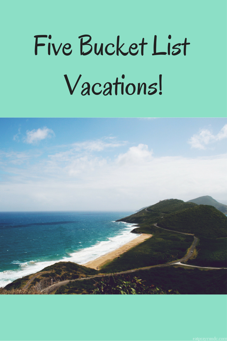 Five Bucket List Vacations!