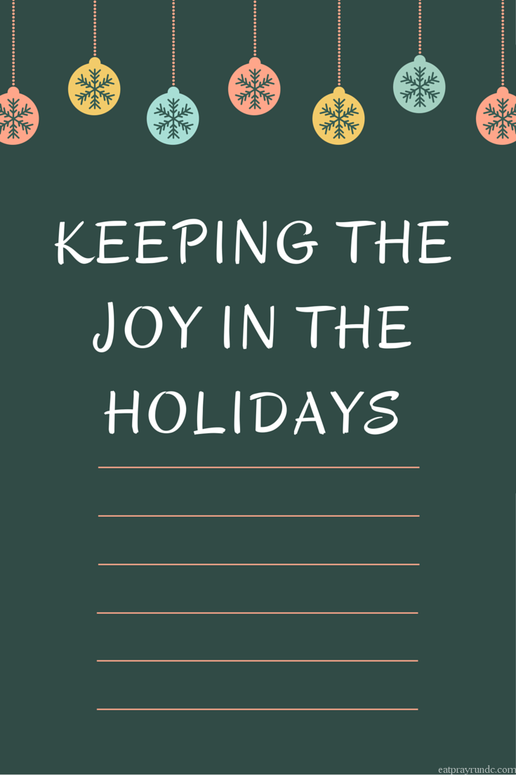 Keeping the Joy in the Holidays
