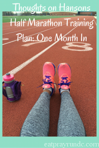 Thoughts on Hansons Half Marathon Training: 1 Month In