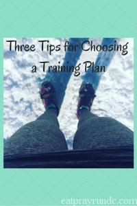 Three Tips to Choosing a Training Plan