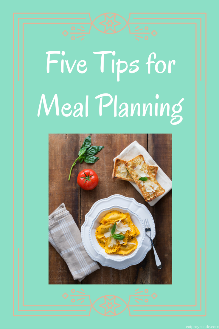 five tips for meal planning