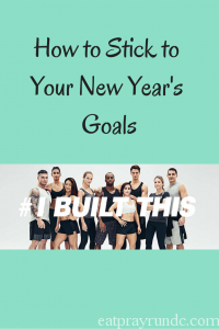 Stick with your New Year's Goals!