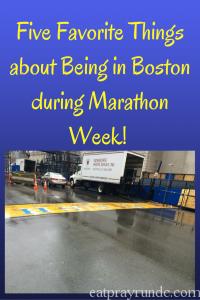 Five Favorite Things about Being in Boston During Marathon Week