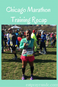 Chicago Marathon Training Recap