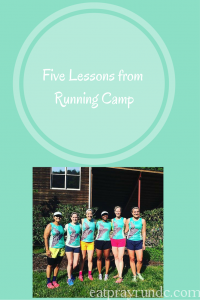 Five Things I Learned at Running Camp