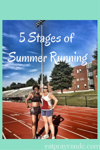 Five Stages of Summer Running