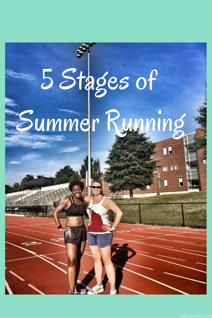 5 Stages of Summer Running