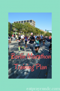 Berlin Marathon Training Plan